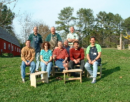 Jim with students he taught at Dogwood Woodworking School